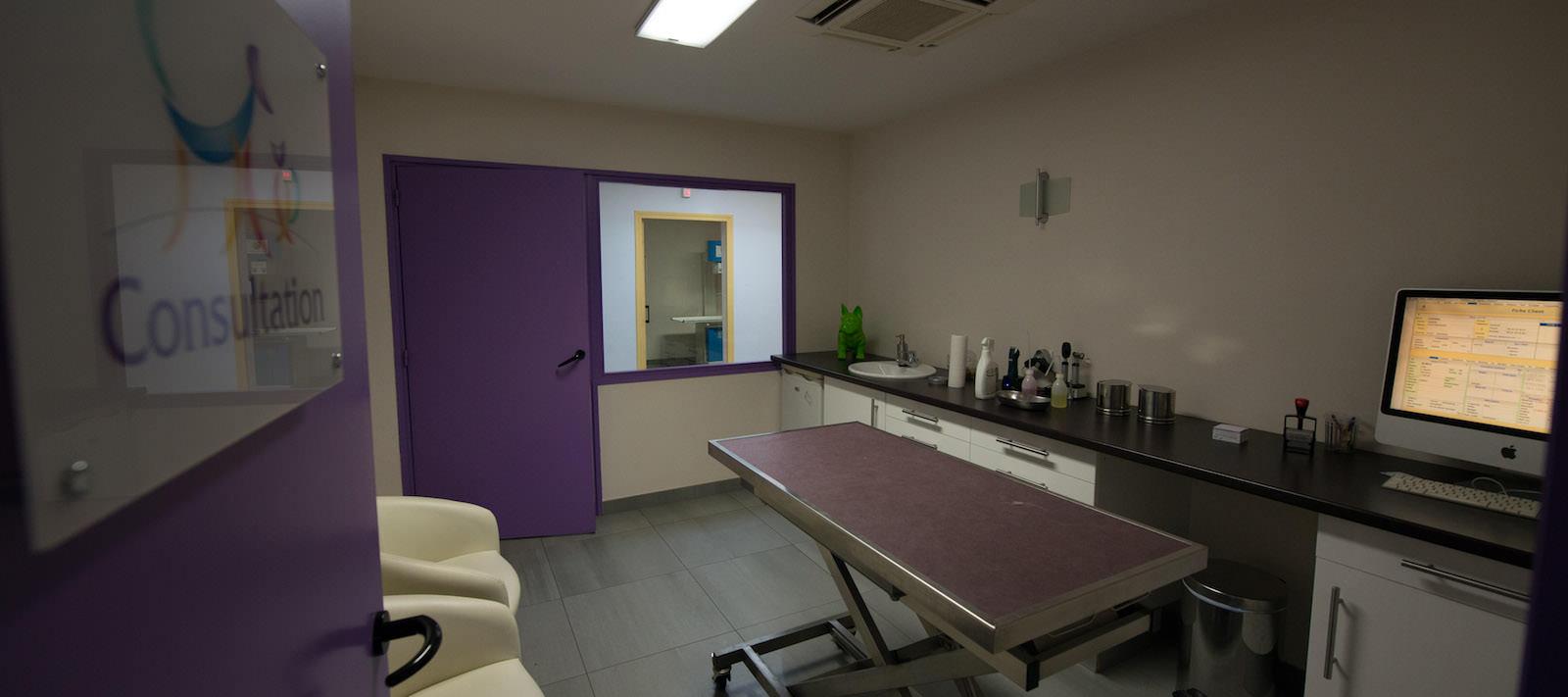 Salle de consultation à la clinique vétérinaire à Nantes