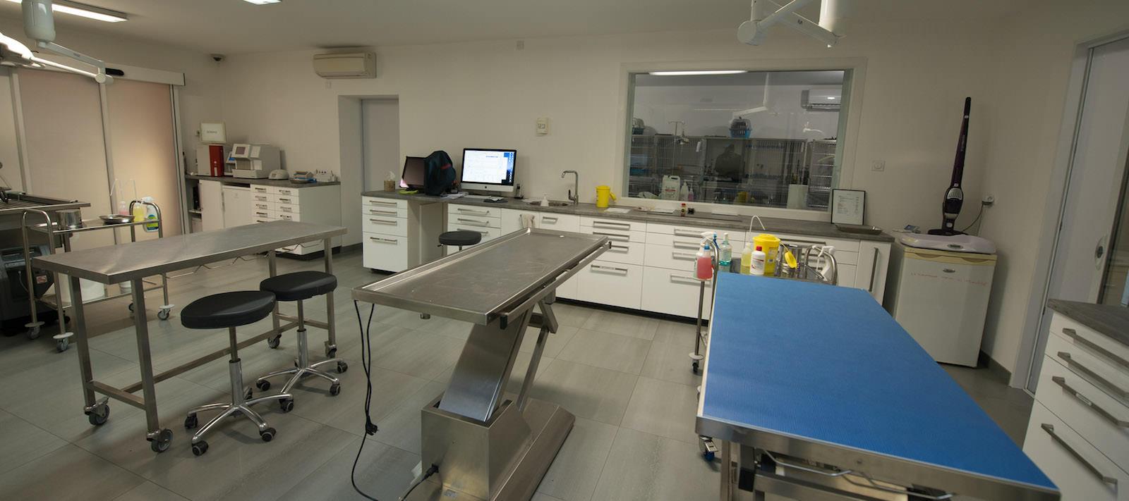 Salle de préparation à la clinique vétérinaire à Nantes